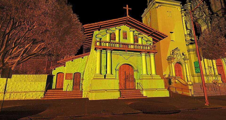 A 3-D laser scan of Mission Dolores can provide exact measurements throughout the 221-year-old build