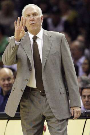 San Antonio Spurs' head coach Gregg Popovich calls a play during first half action against the Indiana Pacers Monday Nov. 5, 2012 at the AT&T Center. (Edward A. Ornelas / San Antonio Express-News)