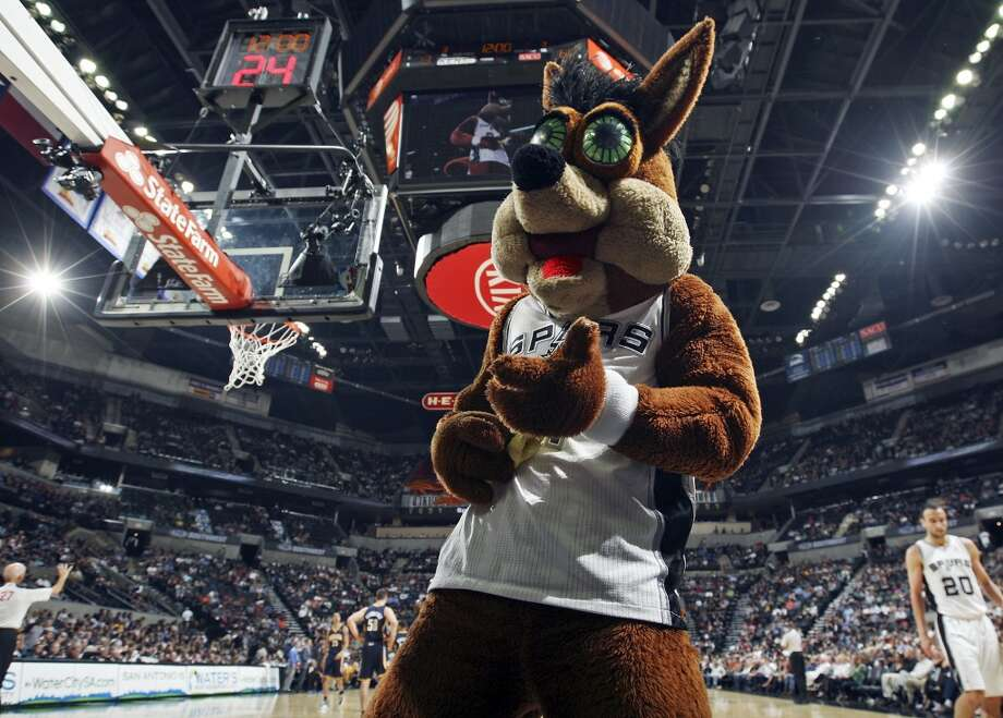 The San Antonio Spurs Coyote performs during the game with the Indiana Pacers Monday Nov. 5, 2012 at the AT&T Center. The Spurs won 101-79. (Edward A. Ornelas / San Antonio Express-News)