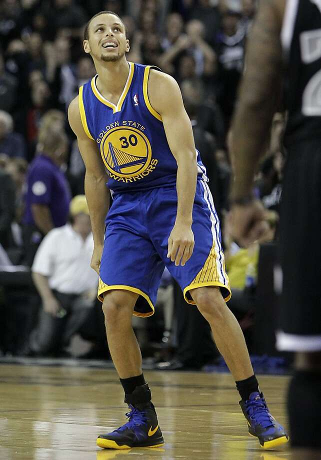Stephen Curry says he's getting good looks, but his shots aren't dropping. He went 3-for-15 on Monday. Photo: Rich Pedroncelli, Associated Press