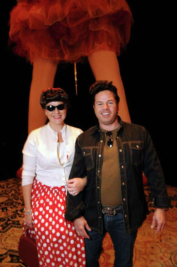 "Chairs Trish and Ty Whitcomb at the Orange Show's ""Rockabilly Blast"" gala at the Heritage Center at the Crown Plaza Reliant Hotel. Photo: Dave Rossman, Freelance / © 2012 Dave Rossman"