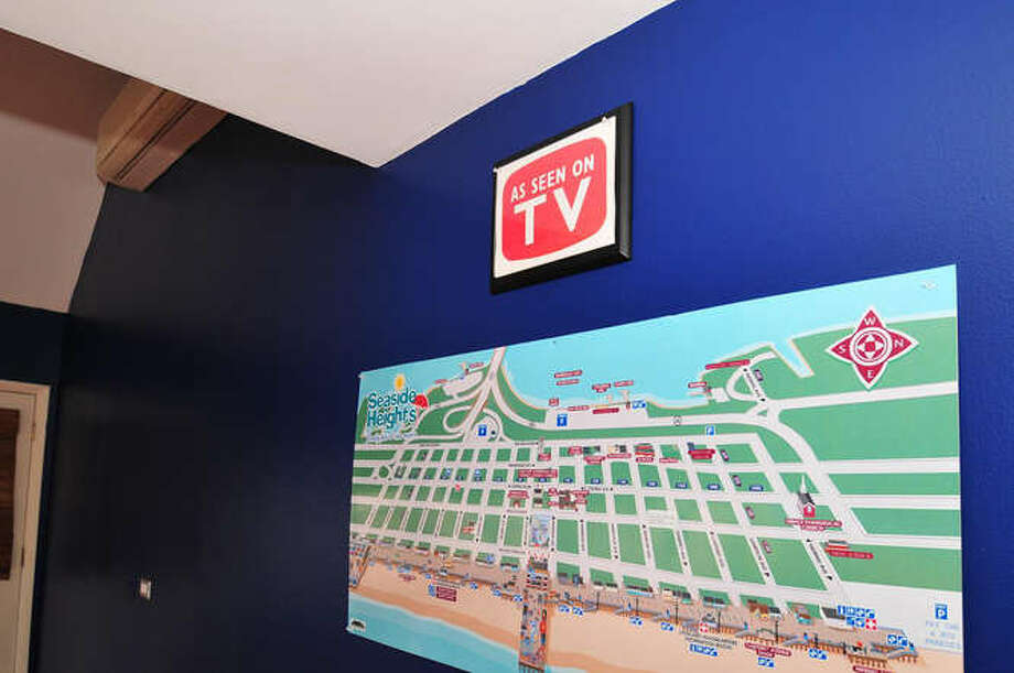 Much of Seaside Heights, shown in this wall map, was severely damaged. (Michael Loundy/Seaside Realty)