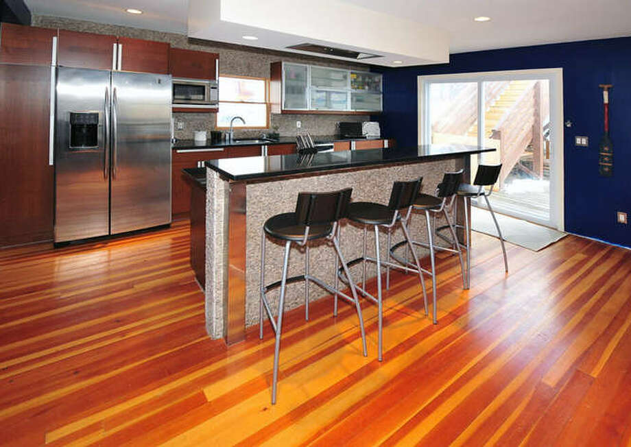 Kitchen with a big fridge for all eight Shore kids' food. (Michael Loundy/Seaside Realty)