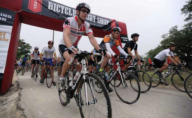 Cyclists participate in the 2011 Wurst Ride, which is held in conjunction with Wurstfest. Courtesy photo Photo: Courtesy Photo