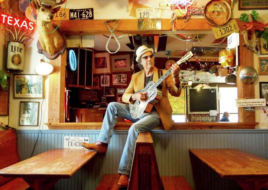 Hill Country troubadour and bluesman Johnny Nicholas will pull out everything but the kitchen sink Saturday for his 15th annual Big Band Bash at the Pioneer Pavilion in Fredericksburg. Courtesy photo Photo: Courtesy Photo