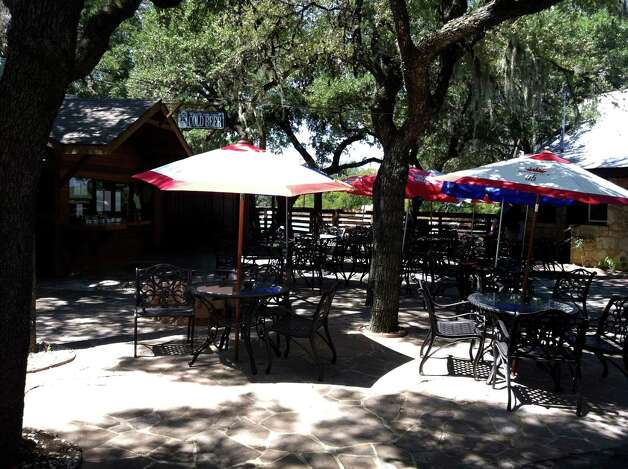 The Hawk at Rebecca Creek's grill serves a variety of food and offers a shaded patio for relaxed dining.
