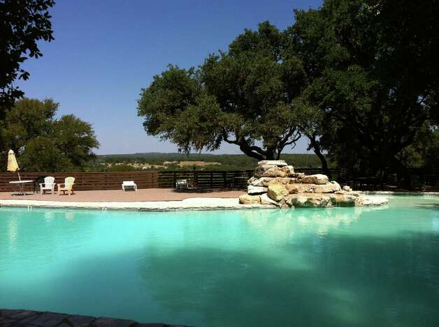The pool at The Hawk at Rebecca Creek offers a relaxing break from the links.
