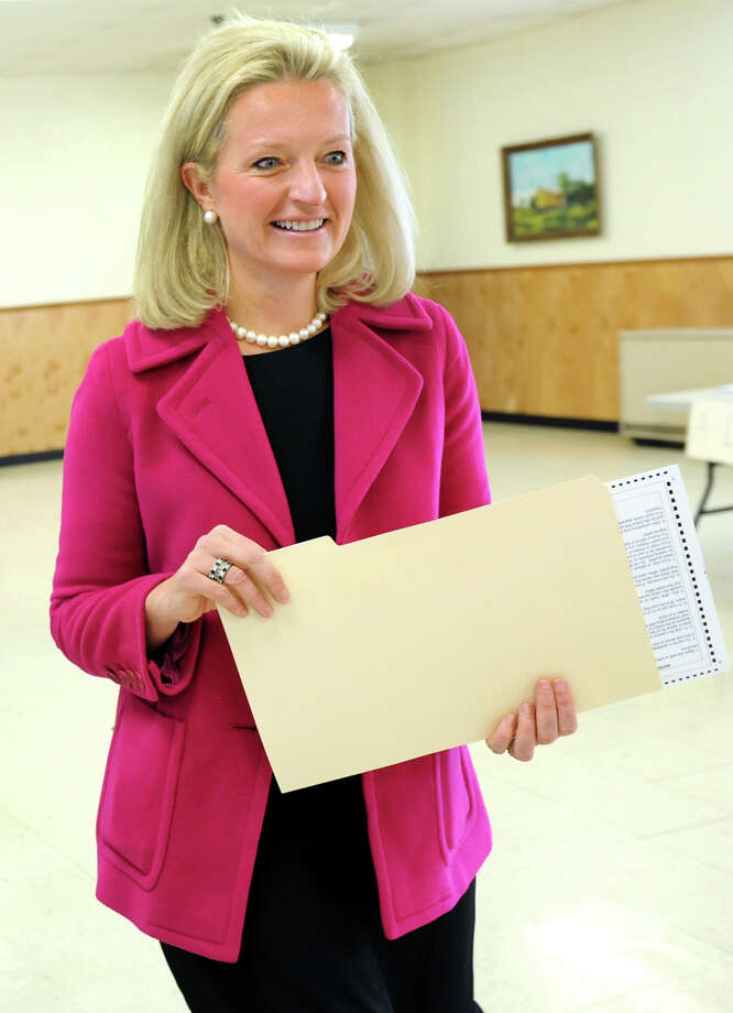 Jennifer Whalen, running for sState Assembly on the Republican and Conservative lines, votes Tuesday morning at Colonie Town Hall in Loudonville. (Cindy Schultz / Times Union) Photo: Cindy Schultz / 00019952A