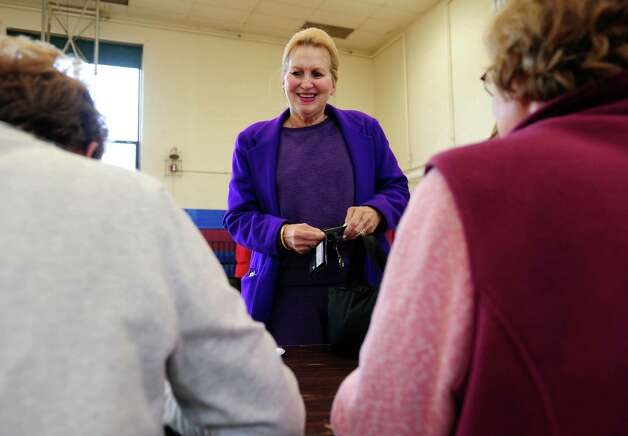 Pam Eckhardt votes Tuesday, Nov. 6, 2012 at Irving School in Derby, Conn. Photo: Autumn Driscoll / Connecticut Post