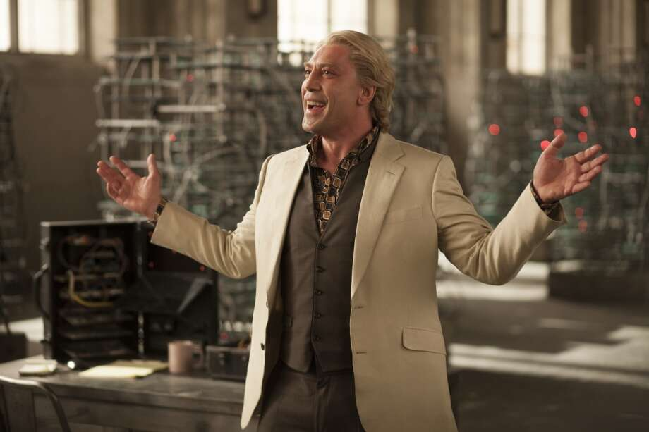 Javier Bardem stars at the villain in SKYFALL.  ( Francois Duhamel)