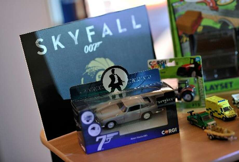 SKYFALL promotional items.