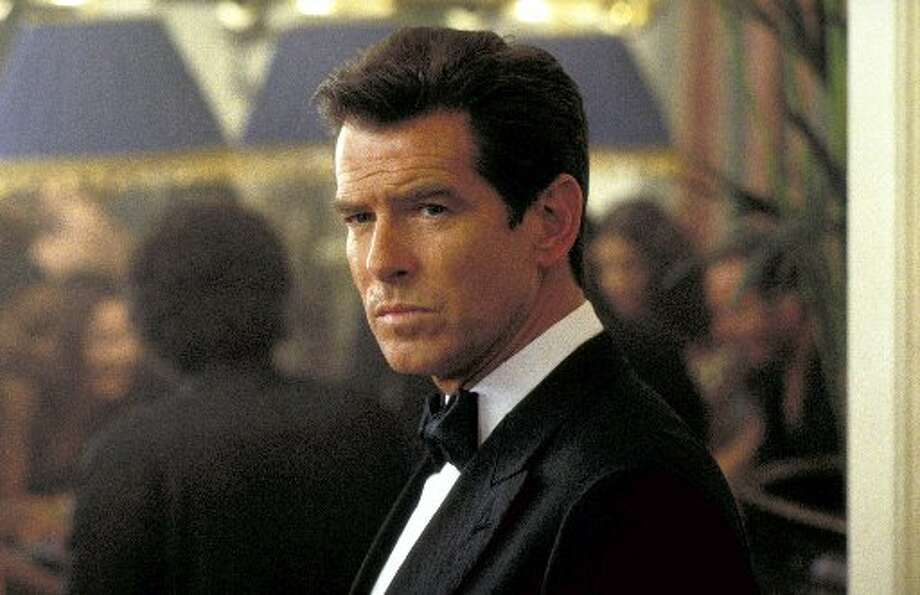"Pierce Brosnan as James Bond in 1999's  ""The World is Not Enough."""