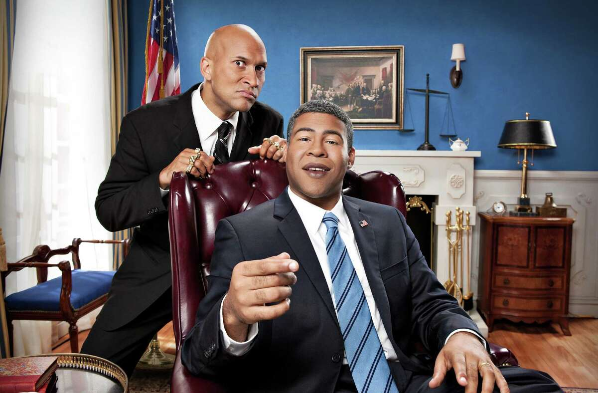 As guys who both lay claim to biracial status, Keegan-Michael Key, left, and Jordan Peele from the sketch-comedy series