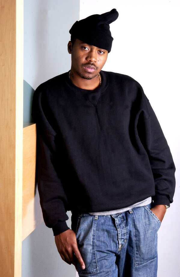Rapper Nas, whose full name is Nasir Jones, poses  in New York on Dec.  21, 2004.  (AP Photo/Jim Cooper) (AP)