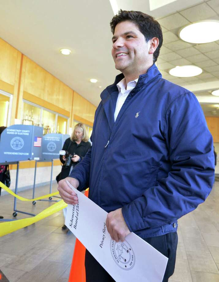 NYS Senate candidate George Amedore votes at Schalmont High School in Rotterdam Tuesday Nov. 6, 2012.   (John Carl D'Annibale / Times Union) Photo: John Carl D'Annibale, Albany Times Union / 00019944A