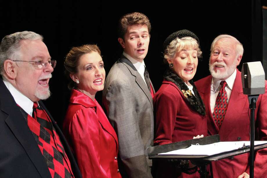 "Classic Theatre will once again stage the radio adaptation of ""It's a Wonderful Life,"" as part of its 2013-'14 season. The premiere production featured (from left) Jack Berns, Renee Garvens, Alan Utley, Terri Peña Ross and Allan S. Ross. Courtesy DianeMalone Photo: Courtesy Classic Theatre"