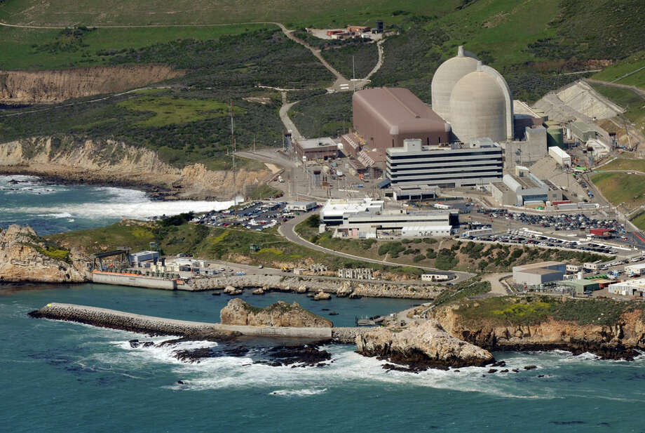 Aerial view of PG&E's Diablo Canyon Nuclear Power Plant that sits on the ocean's edge in San Luis Obispo County. Photo: MARK RALSTON / AFP/Getty Images / AFP