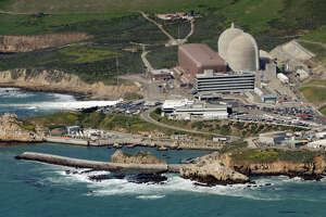 Aerial view of PG&E's Diablo Canyon Nuclear Power Plant that sits on the ocean's edge in San Luis Obispo County.