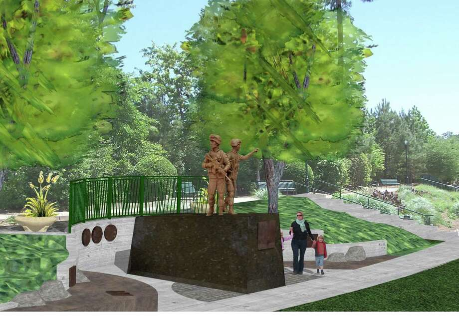"The ""Way Home"" Veterans Memorial Monument Project, shown in a rendering, above, needs more funding to proceed with the patriotic monument. Photo: Submitted"