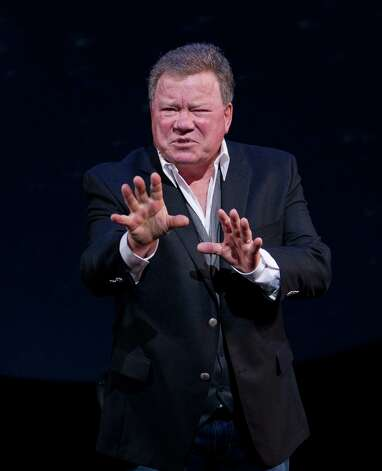 "Actor/author/troubador William Shatner will share stories for his career in ""Shatner's World: We Just Live In It..."" at the Palace Theatre in Stamford on Thursday, Nov. 8. Photo: SARA KRULWICH, New York Times / NYTNS"
