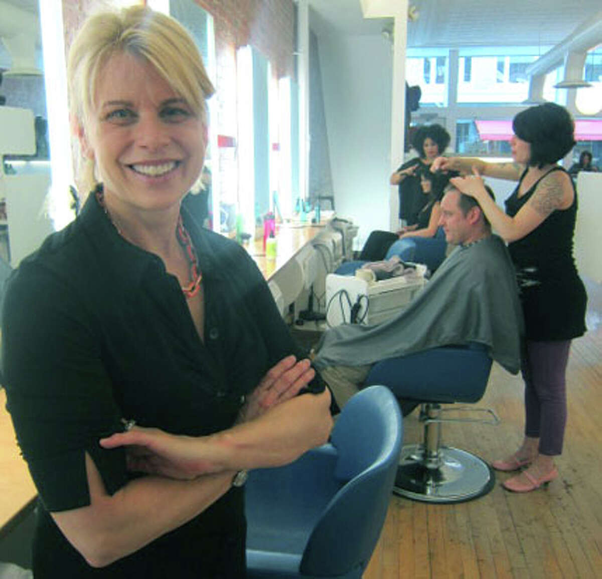 Karen Ross has shepherded the growth of Joe's Salon for 30 years along Bank Street in downtown New Milford. November 2012