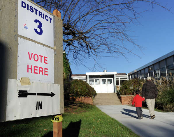 The District 3 polling place at Western Middle School in Byram, Tuesday afternoon, November 6, 2012. Photo: Bob Luckey / Greenwich Time