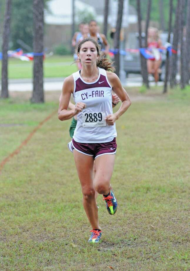 Cy-Fair senior Lauren Fritz (2889), the 2012 District 17-5A gold medalist, will help lead the district champion Lady Bobcats at the UIL Region III Cross Country Championships on Saturday, Nov. 3, at Atascocita High School. Photo: L. Scott Hainline / The Chronicle