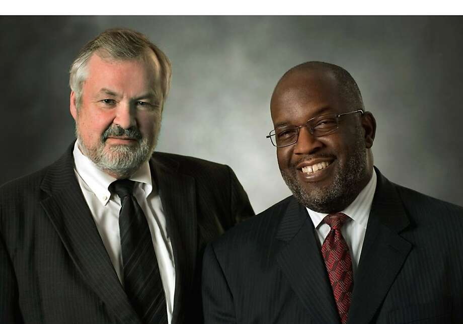 Kaiser Permanente Chairman and CEO George Halvorson (left) will be replaced by Bernard Tyson. Photo: Kaiser Permanente, PRNewsFoto