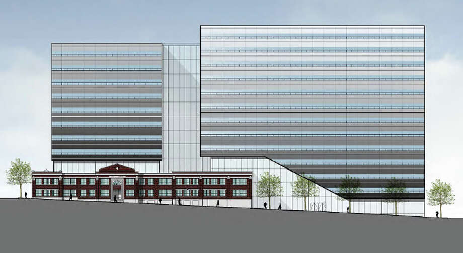 Concept sketch of the new project from Fairview Avenue North. Photo: Touchstone Corp./Perkins+Will