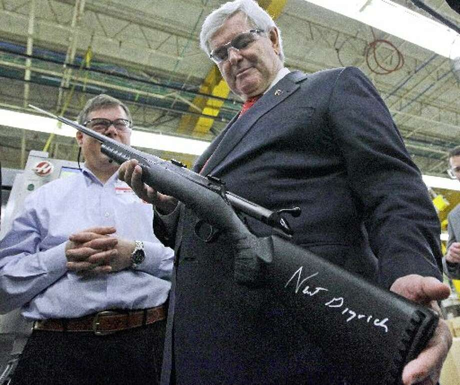 Southport-based Sturm Ruger & Company Inc. has had a tremendous four years under Obama as gun sales soared. The company doesn't talk much in the media, but it isn't shy about politics, here hosting a visit by former presidential contender Newt Gingrich. It also gave $1 million to the NRA this year.Shares of Ruger rose 2.29 percent to $45.02. (Associate Press / Associated Press)