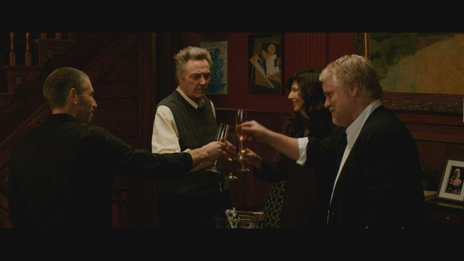 """A Late Quartet"" stars, from left, Mark Ivanir, Christopher Walken, Catherine Keener and Philip Seymour Hoffman. Photo: Courtesy"