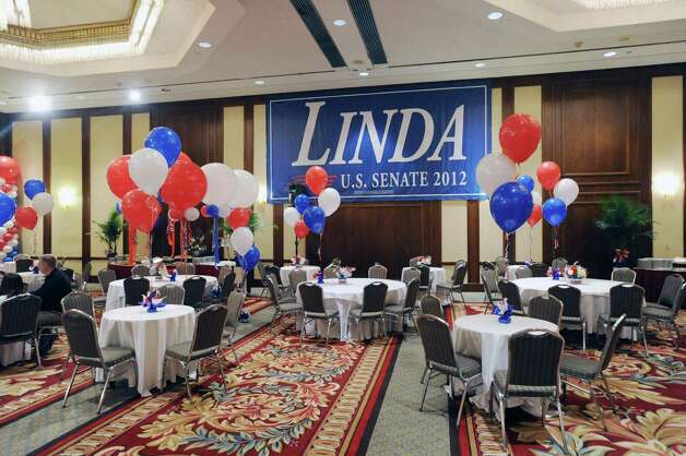 An empty ballroom on election night prior to the start of the Linda McMahon for U.S. Senate gathering at the Hilton Stamford Hotel, Conn.,Tuesday night, November 6, 2012. Photo: Bob Luckey / Greenwich Time