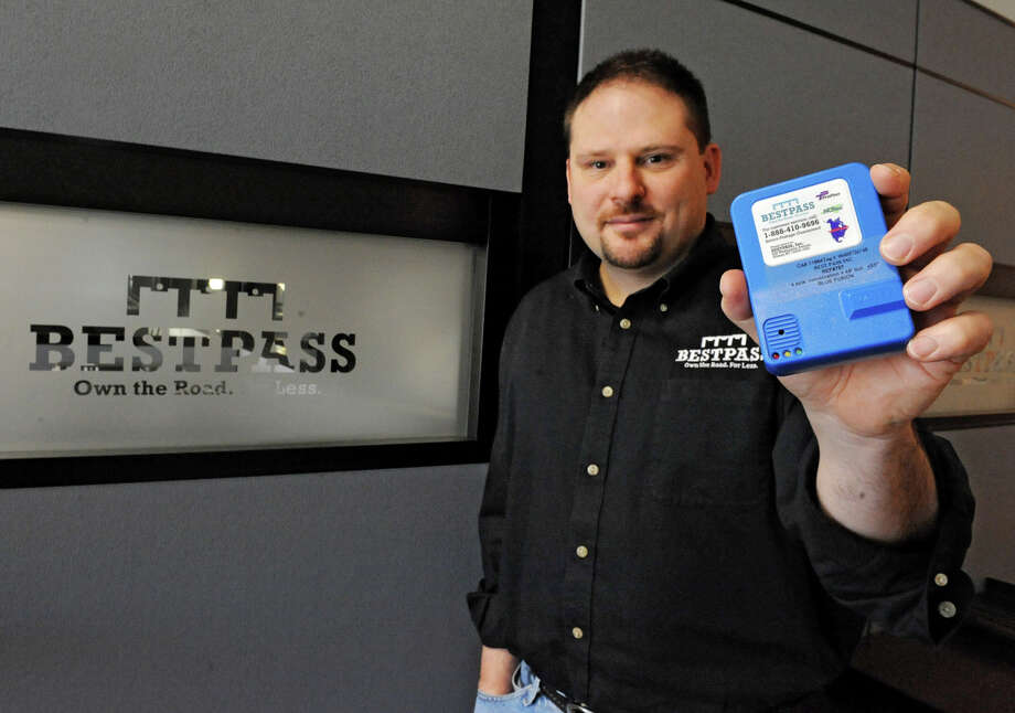 BestPass President John Andrews holds a transponder at the BestPass office on Monday, Oct. 29, 2012 in Albany, N.Y. (Lori Van Buren / Times Union) Photo: Lori Van Buren