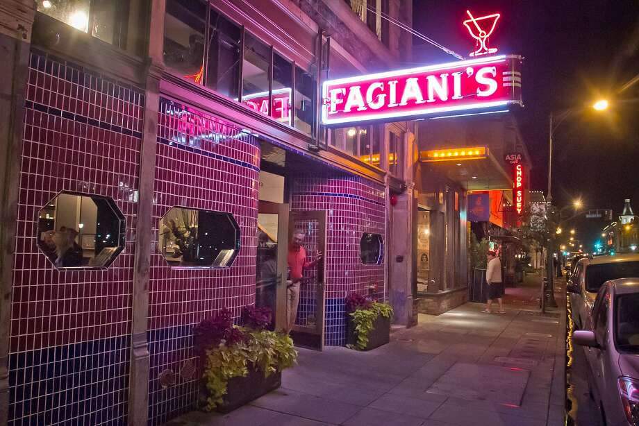The Thomas restaurant and Fagiani's Bar, with its renowned neon sign. Photo: John Storey, Special To The Chronicle