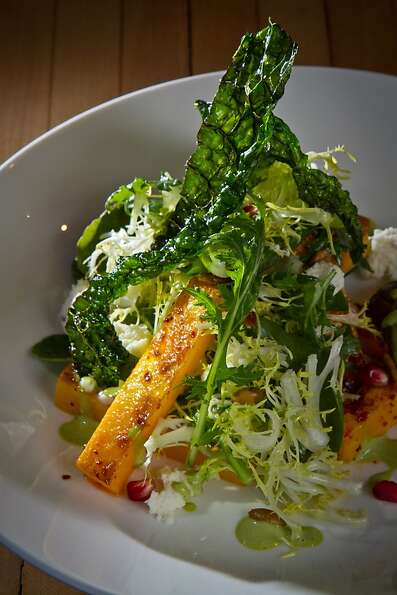 The roasted butternut squash and kale salad at the Thomas restaurant in Napa.