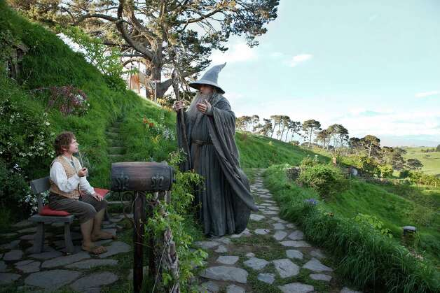 (L-r) MARTIN FREEMAN as Bilbo Baggins and IAN McKELLEN as Gandalf in New Line Cinema?s and MGM's fantasy adventure ?THE HOBBIT: AN UNEXPECTED JOURNEY,? a Warner Bros. Pictures release. Photo: Todd Eyre / (c) 2012 Warner Bros. Entertainment Inc. and Metro-Goldwyn-Mayer Pictures Inc.