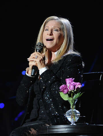 Singer Barbra Streisand performs at Barclays Center of Brooklyn on October 11, 2012 in New York City. (Photo by Michael Loccisano/Getty Images) / 2012 Getty Images