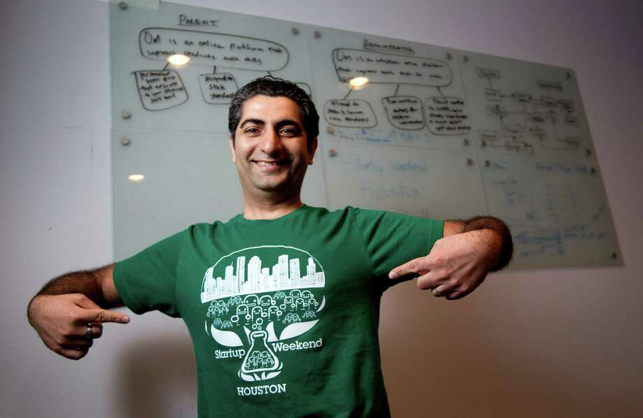 "Javid Jamae, organizer for Startup Weekend, says: ""You see the passion in their eyes"" about the technology event. Photo: Brett Coomer, Houston Chronicle / Houston Chronicle"