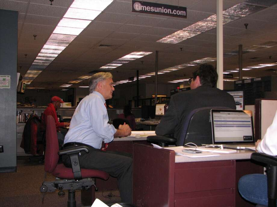 Times Union Editor Rex Smith talks deadlines with Mark McGuire. We get an extra hour tonight. Pages are off the floor at 12:45 am with a replate an hour later.
