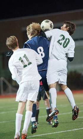 Wilton high school vs Norwalk high school in the FCIAC boy's soccer semifinal game held at Fairfield Ludlowe high school, Fairfield, CT on Tuesday November 6th, 2012. Photo: Mark Conrad / Stamford Advocate Freelance