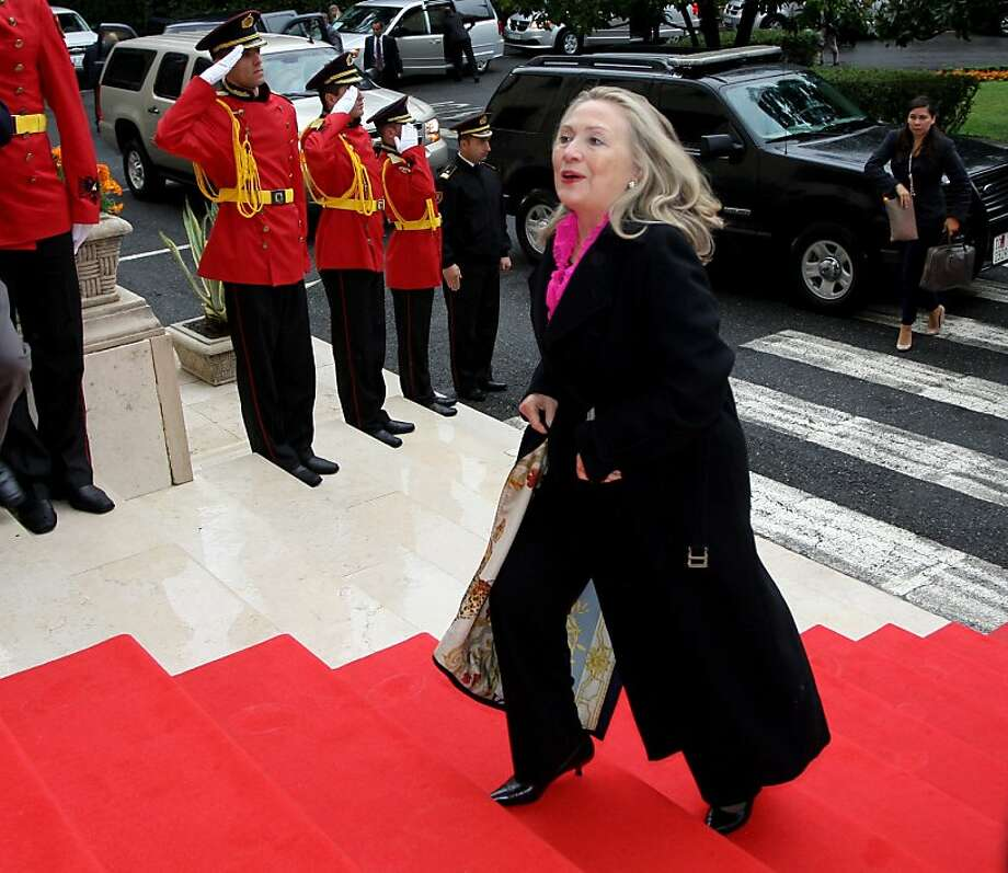 Secretary of State Hillary Rodham Clinton is seen as the favorite for the 2016 Democratic nomination if she chooses to run. Photo: Gent Shkullaku, AFP/Getty Images