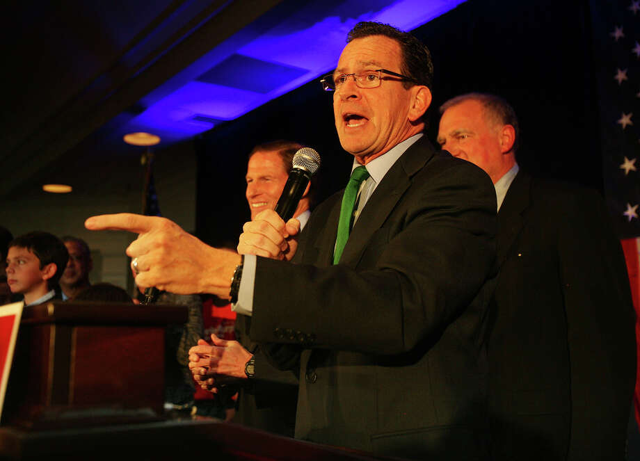 Gov. Dannel Malloy speaks before the introduction of senate winner Chris Murphy at the Hilton Hotel in Hartford on Tuesday, November 6, 2012. Photo: Brian A. Pounds / Connecticut Post
