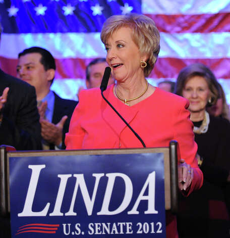 Republican Linda McMahon gives her concession speech in the race for U.S. Senate on election night at the Hilton Stamford Hotel, Conn.,Tuesday night, November 6, 2012. McMahon was defeated by Democrat Chris Murphy. Photo: Bob Luckey / Greenwich Time