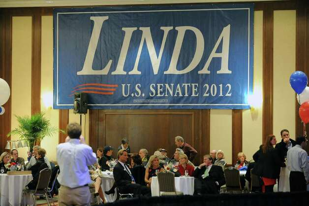A somber ballroom during the Linda McMahon for U.S. Senate gathering on election night at the Hilton Stamford Hotel, Conn.,Tuesday night, November 6, 2012. Early results are predicting a win for Democrat Chris Murphy as the next U.S. Senator for Connecticut. Photo: Bob Luckey / Greenwich Time