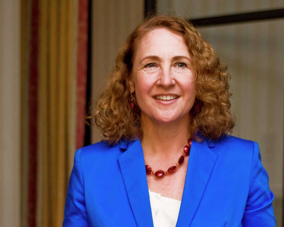 Elizabeth Esty, Democratic candidate for congress in the 5th district speaks to the media in her headquarters at Coco Keys in Waterbury. Tuesday, Aug. 14, 2012 Photo: Scott Mullin / The News-Times Freelance