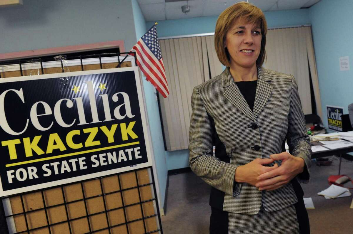 Democratic candidate for the New York Senate 46th district Celicia Tkaczyk at her headquarters in Guilderland, NY Tuesday Nov. 6, 2012. (Michael P. Farrell/Times Union)
