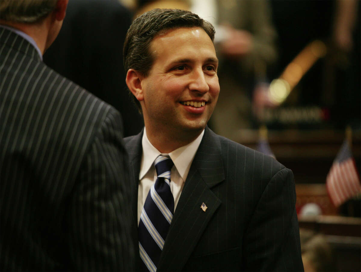 In this file photo state Sen. Bob Duff, D-25 of Norwalk, at the opening session of the State Legislature.