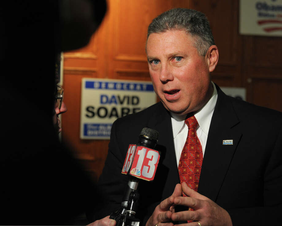 John McDonald candidate for the 108th Assembly District speaks to the press at the Polish American Citizen's Club on election night Tuesday, Nov. 6, 2012 in Albany, N.Y.  (Lori Van Buren / Times Union) Photo: Lori Van Buren