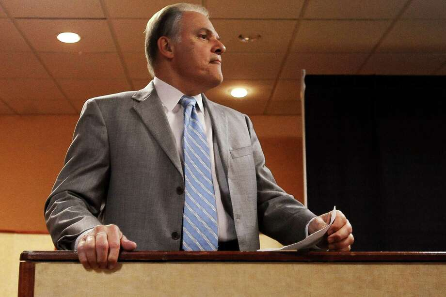 Democratic congressional candidate Nick Lampson awaits results on the election for Congressional District 14 at the Holiday Inn in Beaumont on Tuesday, November 6,  2012. Photo: Randy Edwards