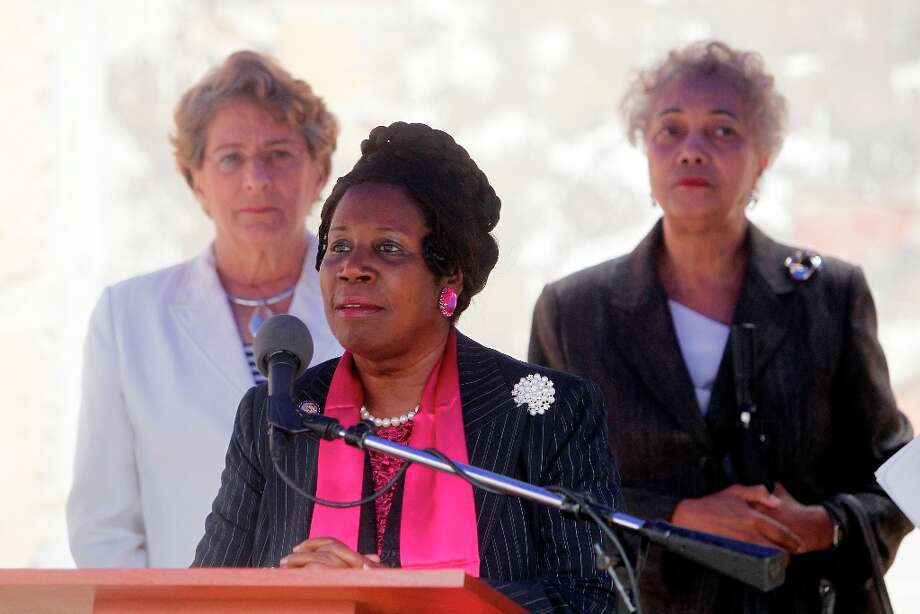 U.S. Congresswoman Sheila Jackson Lee attended the groundbreaking for the historic Bethel Missionary Baptist Church where Mayor Annise Parker and the Houston Parks & Recreation Department in partnership with the Tax Increment Reivestment Zone No.14/Fourth Ward Redevelopment Authority announced plans for Bethel Park on Friday, Aug. 24, 2012, in Houston. The multi-million dollar project will restore walls and convert both the interior of the church and the remaining property into a park for the neighborhood. The church was founded in late 1800's by Reverend John (Jack) H. Yates located in Freedmen's Town, a post Civl War Houston neighborhood founded by freed slaves. The sanctuary was destroyed by a fire in 2005.  ( Mayra Beltran / Houston Chronicle ) Photo: Mayra Beltran, Houston Chronicle / © 2012 Houston Chronicle